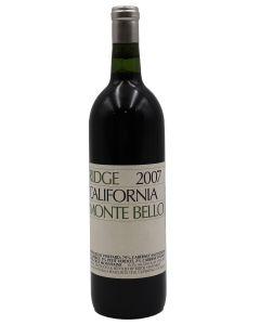 2007 ridge monte bello cabernet sauvignon California Red