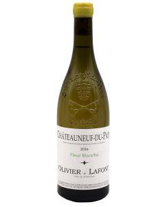 2016 olivier & lafont chateauneuf du pape blanc fleur blanche Chateauneuf du Pape