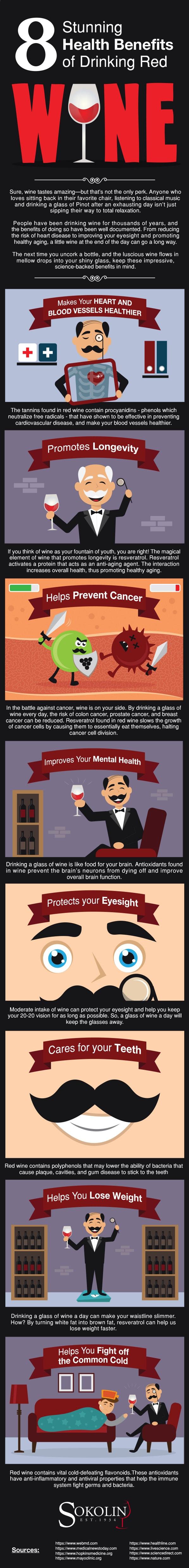 benefits of drinking wine info-graphic