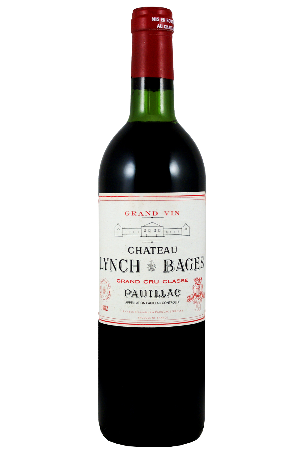 1982 Lynch Bages Bordeaux Red 750 ml