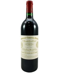 1989 cheval blanc Bordeaux Red