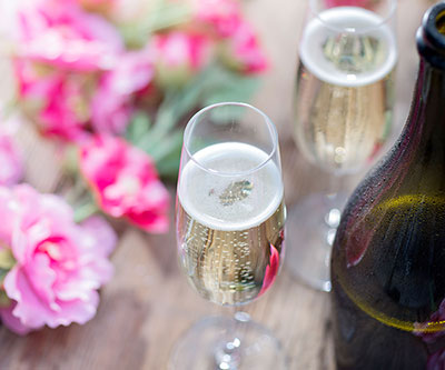 Champagne Gifts for the Bride and Groom